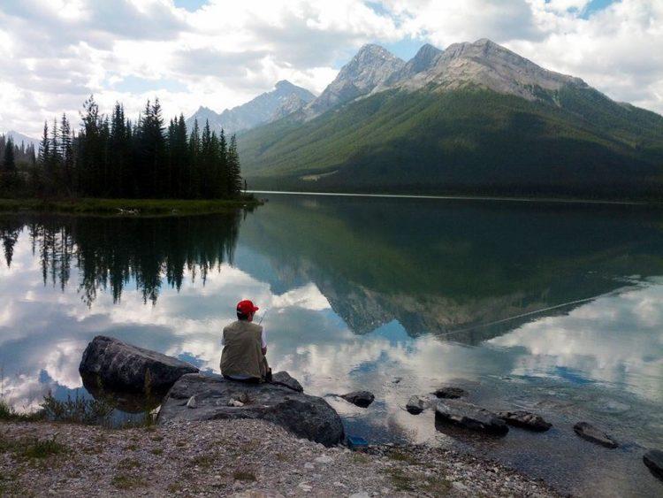 Fishing Spray Lakes Reservoir