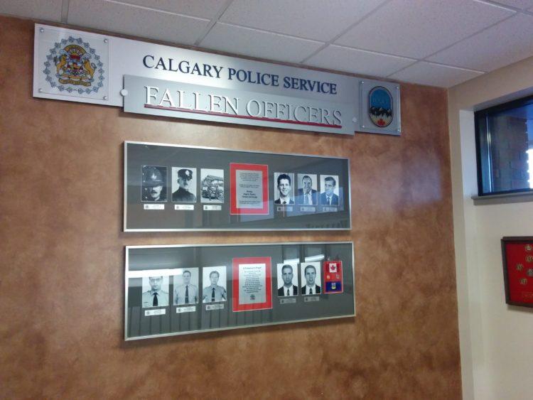Calgary Police Ride Along Fallen Wall