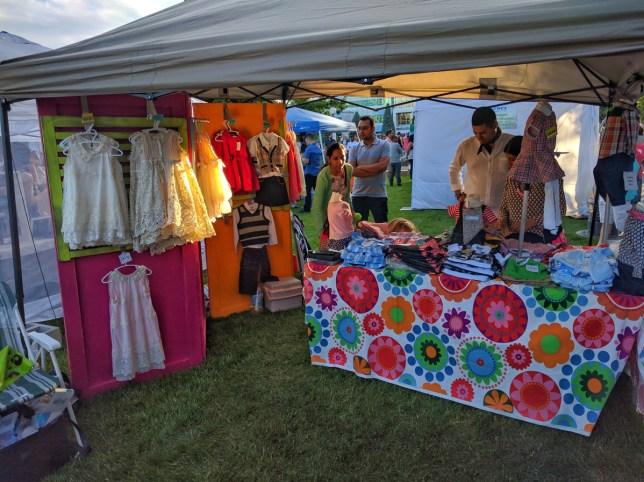 Calgary Night Market Clothing tent 2