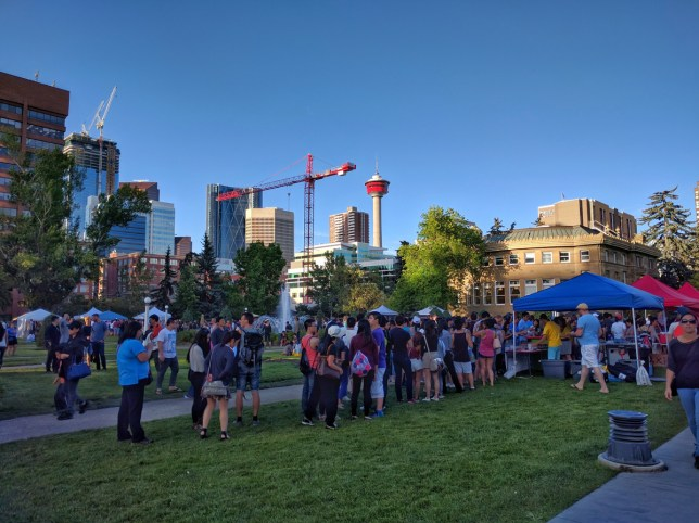 Calgary Night Market Food Line
