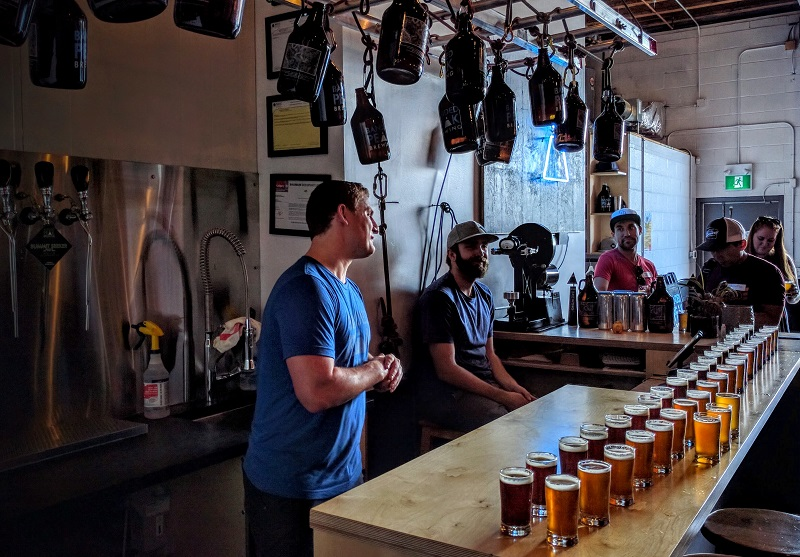 touring Calgary breweries