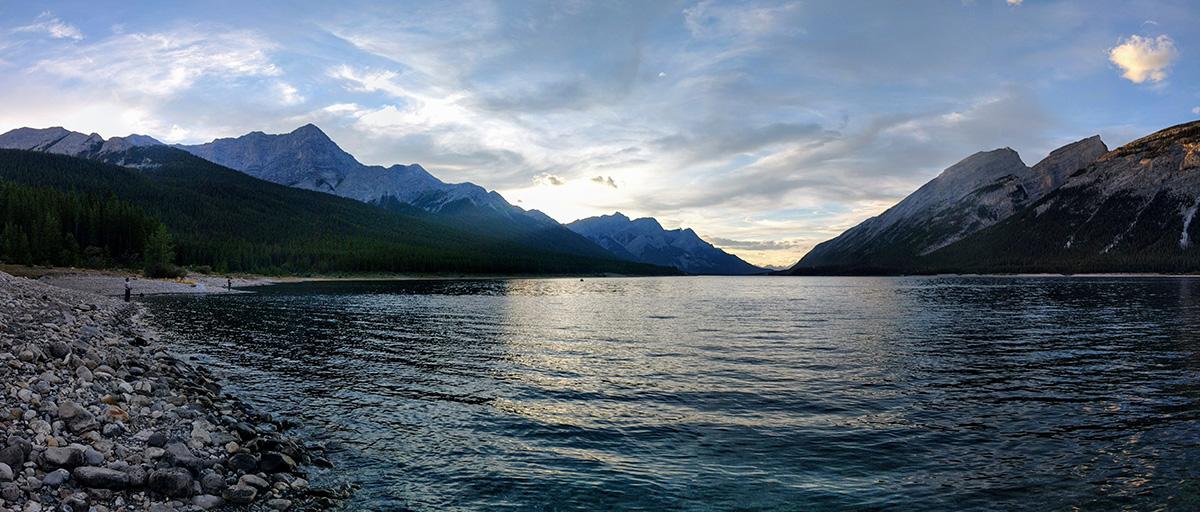 Fishing Around Calgary, Spray Lakes Reservoir Panorama