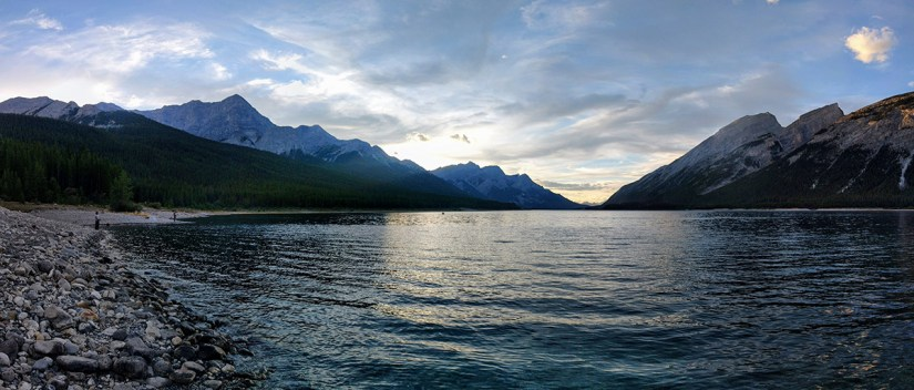 Fishing Around Calgary, Spray Lakes Reservoir Panorama