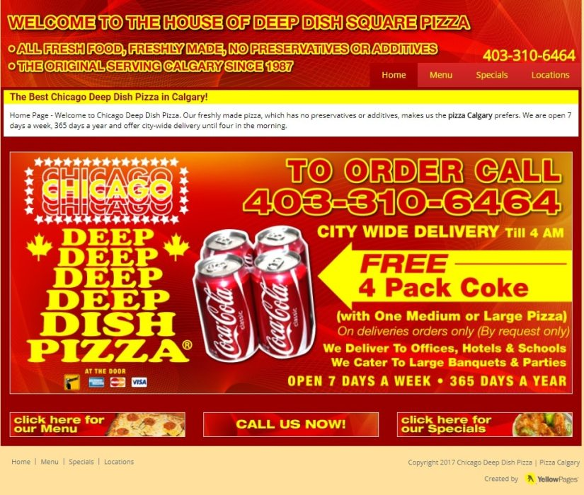 Phoney Chicago Deep Dish Pizza