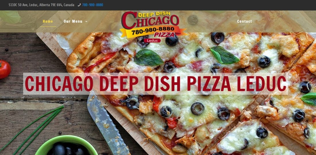 Chicago Deep Dish Pizza Leduc Phoney
