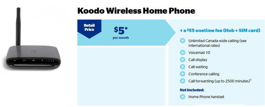 Koodo Mobile Wireless Home Phone