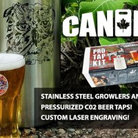 CanKeg: custom stainless steel growlers and mini kegs + C02 taps!