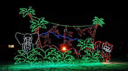 Calgary Zoo Lights Glow