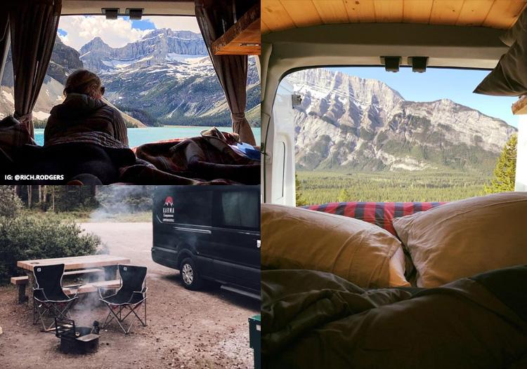 Karma Campervans mountain camping in Alberta