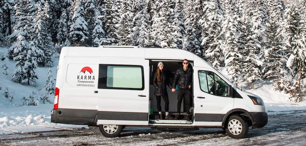 Karma Campervans winter camping