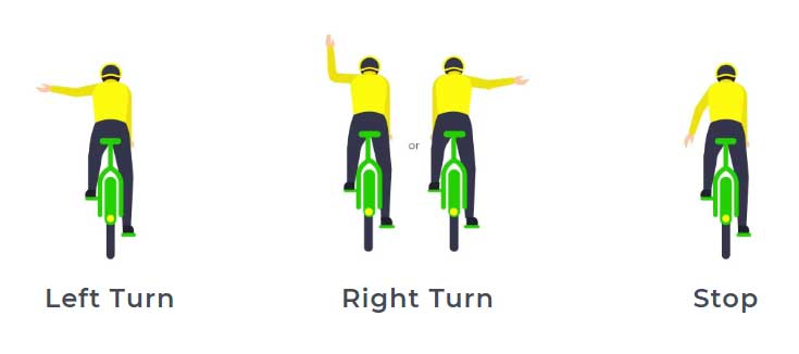 Scooters in Calgary hand signals