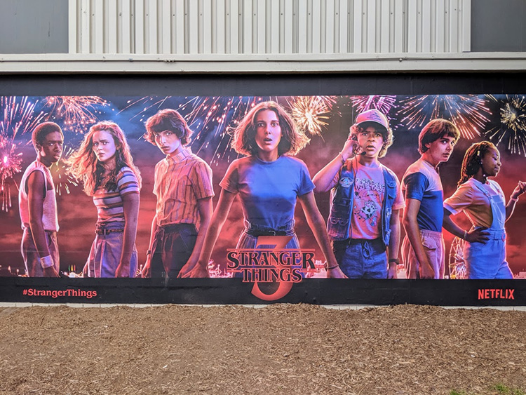 Stranger Things Calgary Stampede Instagram Wall