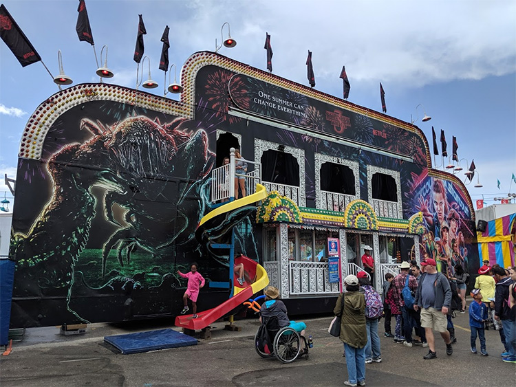 Stranger Things Calgary Stampede Funhouse