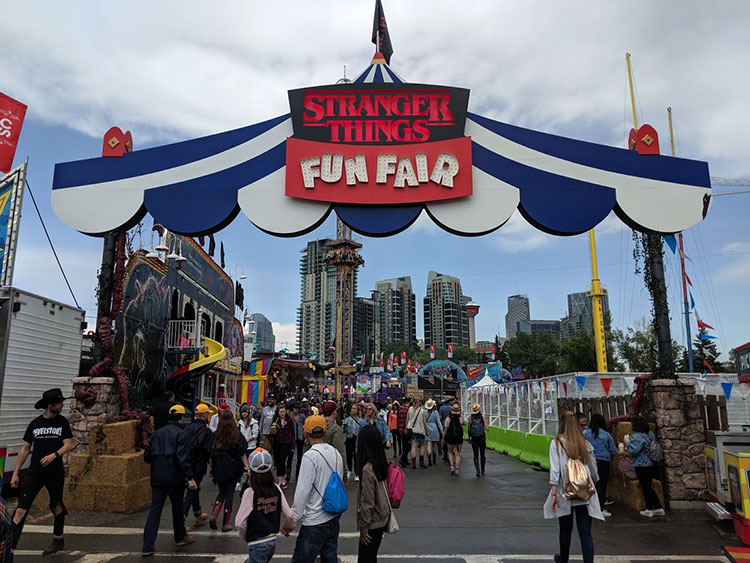 Stranger Things Calgary Stampede Fun Fair