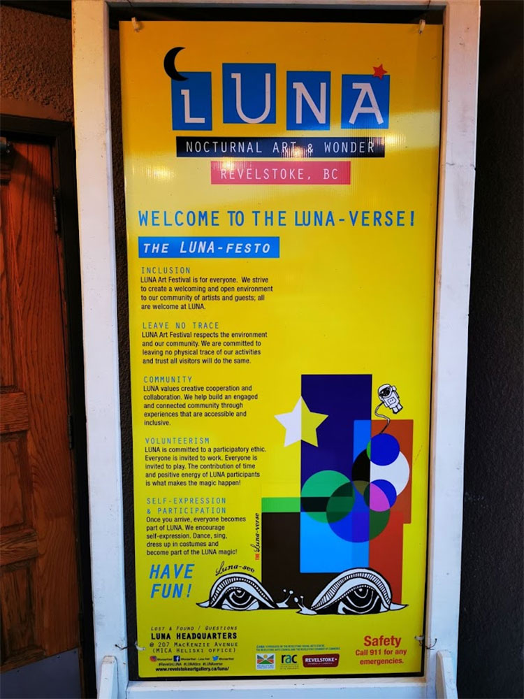 LUNA Art Festival nocturnal wonder lunaverse