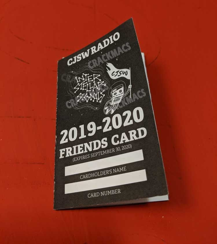 CJSW Friends Card back