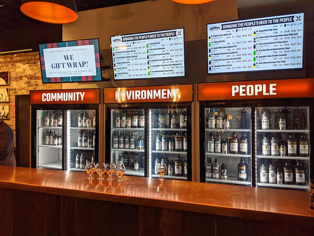 Alberta Beer Exchange Growler Bar
