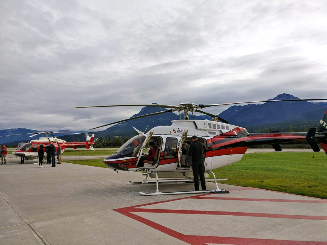 Taking Alpine Helicopters To Purcell Mountain Lodge in BC, Canada