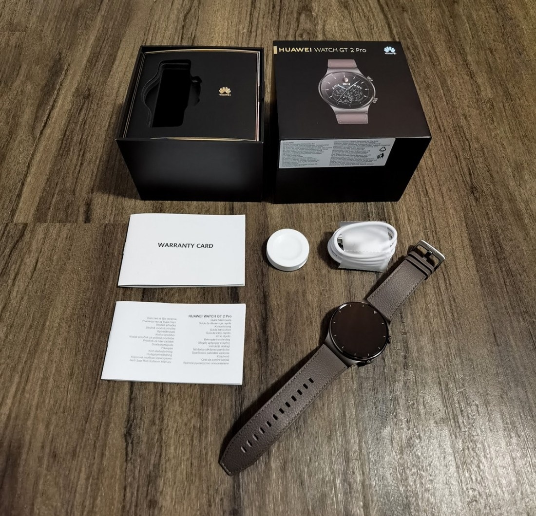 Huawei Watch GT 2 Pro Smartwatch what's included in the box