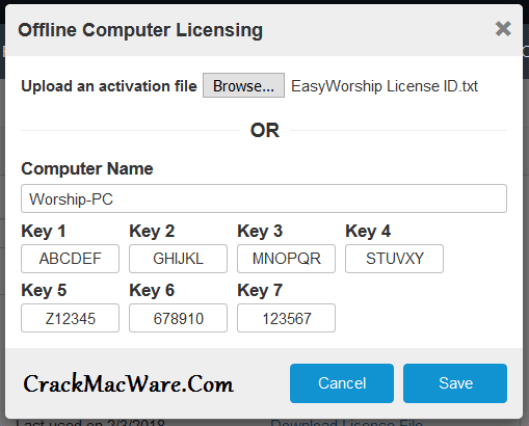 EasyWorship Serial Key