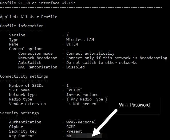 cách xem lại password wifi đã lưu trên Window 7, 8 và 10