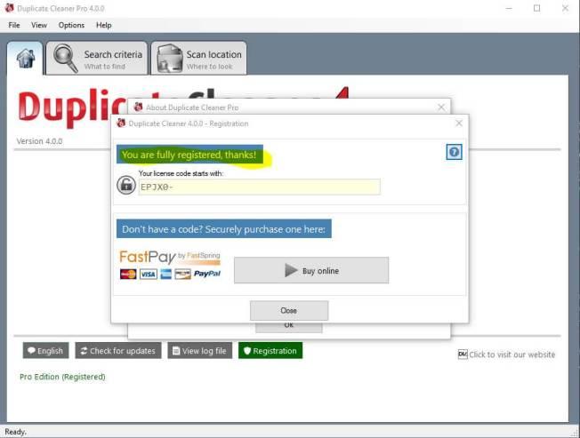 Duplicate cleaner pro License Key Screenshot
