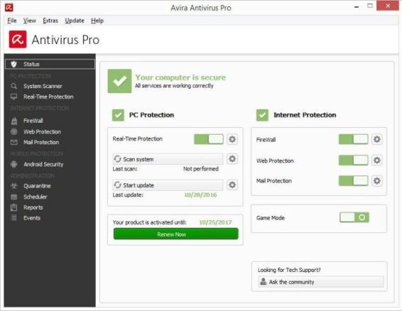 Avira Antivirus Pro 15.0.2104.2083 Crack + License Key (Till) 2021