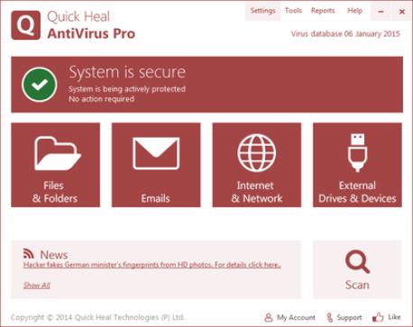 Quick Heal Antivirus Pro 19.00 Crack With Keygen Free Download 2021