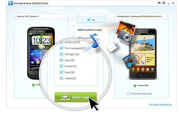 Wondershare MobileTrans 8.1.0 Crack + Registration Code Free Download