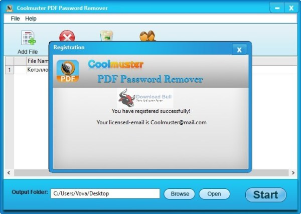 Coolmuster PDF Password Remover 2.1.9 Registration Code Latest 2021