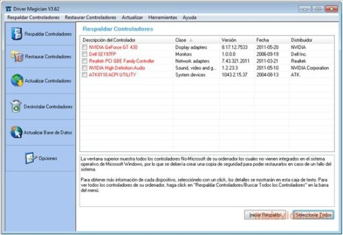 Driver Magician 5.21 Screenshot 1