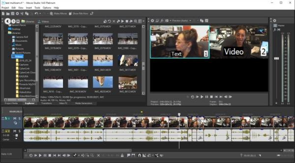 MAGIX VEGAS Movie Studio 15.0 Screenshor 1