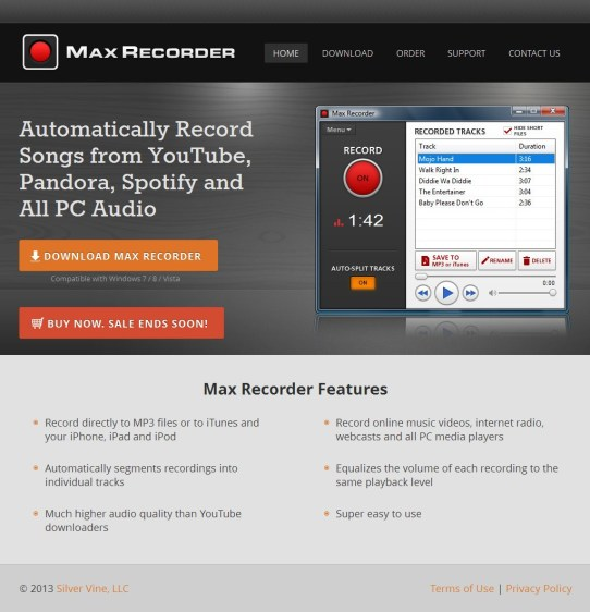 Max Recorder Crack 2.0 Full Version Screenshot 1
