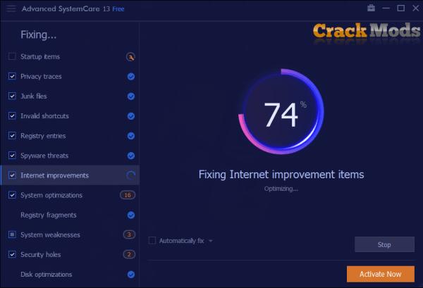 Advanced SystemCare Pro 13.6.0.291 Crack + License Key [Latest]