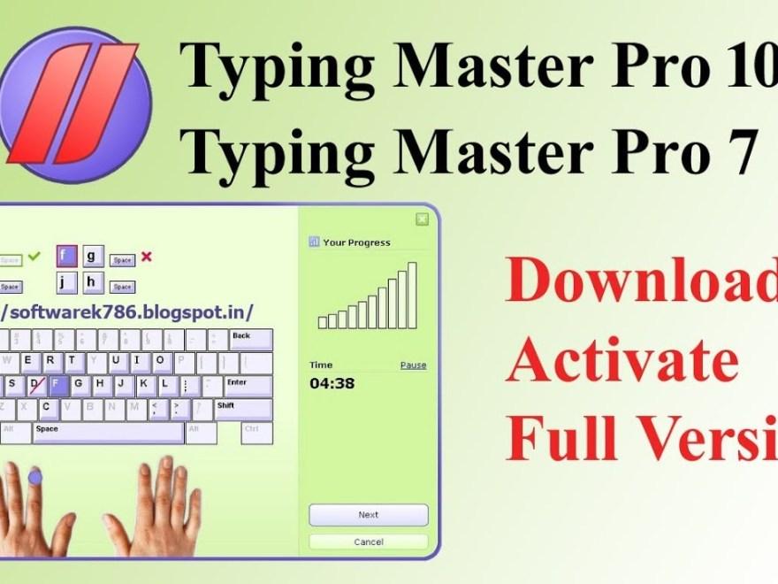 Typing Master 10.1 Crack & License Key Free Download Letest Version
