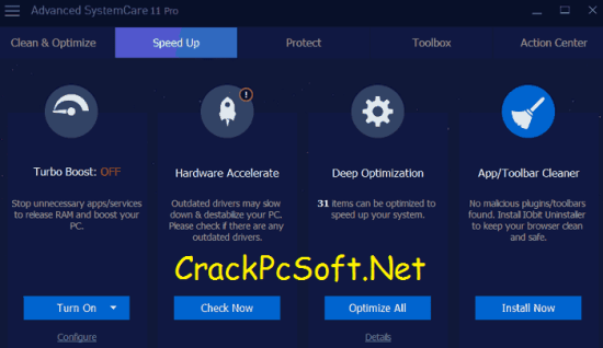 Advanced SystemCare PRO Key with Crack Download