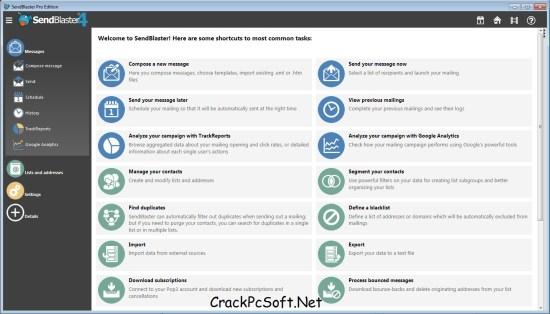 SendBlaster 4 Crack Keygen + License Key Free Download