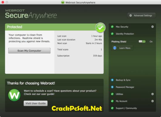 Webroot SecureAnywhere Antivirus KeyCode 2018