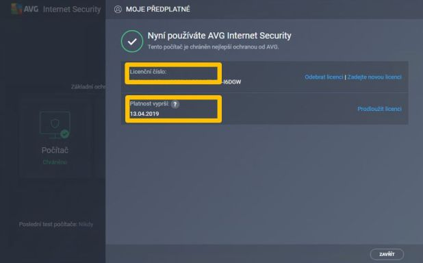 AVG Internet Security License Keygen