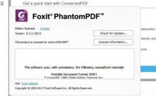 Foxit Phantompdf 9 Full Crack Activation Key Aug 2019
