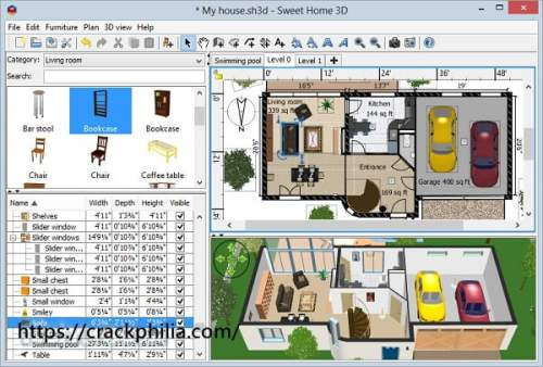 Sweet Home 3D 6.5.2 Crack With Serial Key Free Download 2021