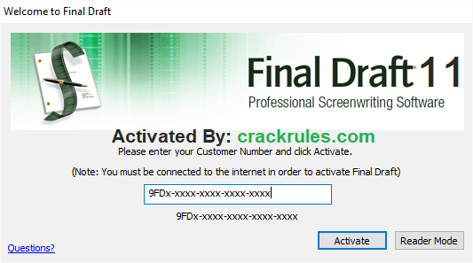 Final Draft Crack 2019 Full Version