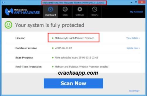 Malwarebytes Anti-Malware Premium 2016 Lifetime Key Free Download