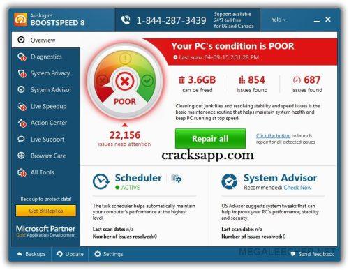 Auslogic BoostSpeed 8 Crack Free Download