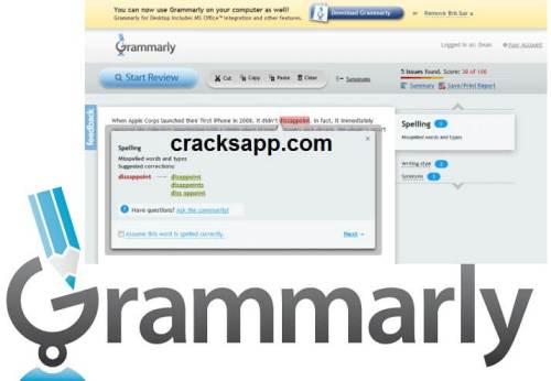 Grammarly 5.0.3.0 Crack Keygen Full Version Free Download