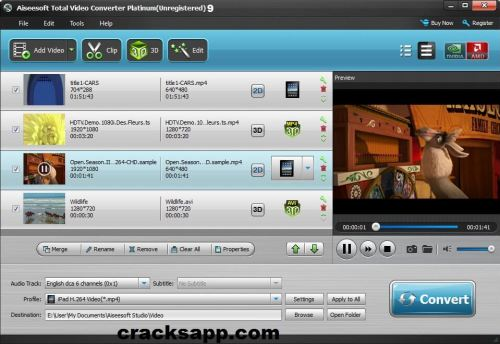 Aiseesoft Total Video Converter Platinum 9 Crack + Registration Code Full