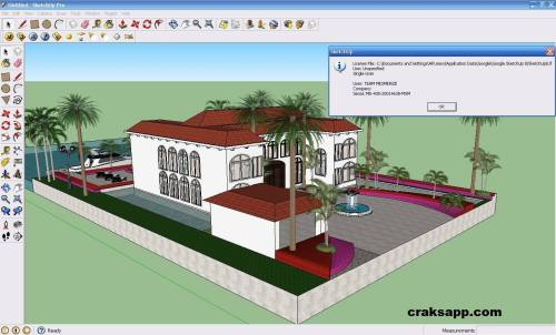 Google Sketchup 8 Pro Crack + Licence Key 2016 Full Free Download