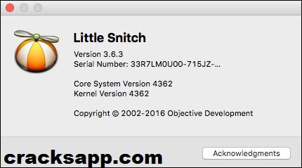 Little Snitch 3.6.3 Crack + Serial Key Generator Full Download