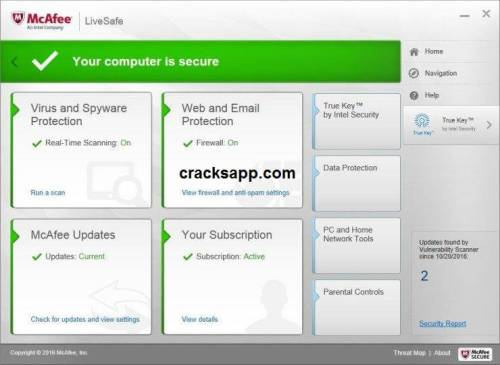 how to  mcafee livesafe with product key