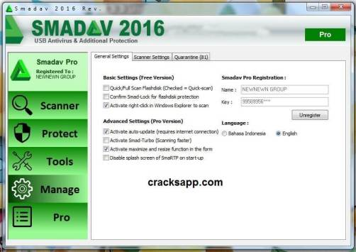 Smadav PRO 2016 Registration Name and Key